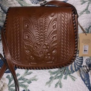NWT Patricia Nash Crossbody Tooled Leather